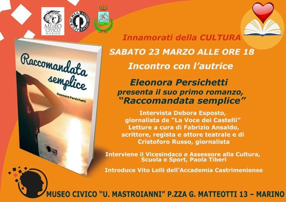 ELEONORA PERSICHETTI presenta il suo primo romanzo