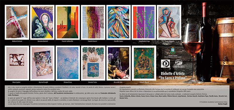 IV Edizione Etichetta d'Artista tra Sacro&Profano in collaborazione con la prestigiosa Azienda Vitivinicola Colle Picchioni.
